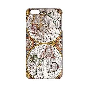 3D Case Cover Antique Maps Old World Vintage Maps Phone Case for iPhone6 plus