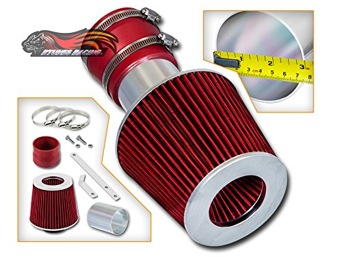 Rtunes Racing Ram Air Intake Black / Red / Blue Filter Kit For 04-07 Pontiac Grand Prix 3.8L V6 (Super Charged or Non Super Charged) (Red)