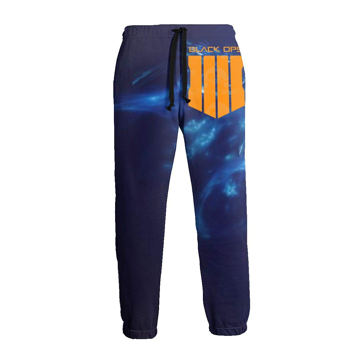 Mens 3D Print Graphic Call of Duty Black Ops 4 Long Sleeve Loose Fit Jogger Sweatpants