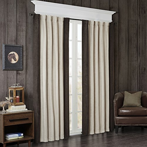 Drapes Lodge Pocket Rod (Woolrich Ivory Curtains for Living Room, Lodge Cabin Curtains for Bedroom, Watson Solid Rod Pocket Window Curtains, 50x84, 1-Panel Pack)