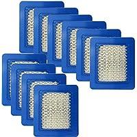 Sun3Drucker 10 stuks grasmaaier luchtfilter, luchtfilter vervanging voor Briggs & Stratton 39959 491588S 491588 4915885