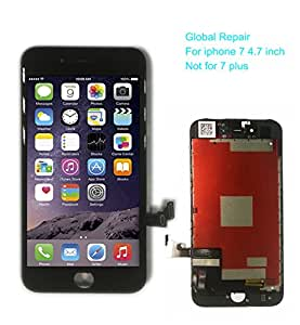 LCD screen replacement for iphone 7 4.7 inch Digitizer Frame Assembly display with tool kit in black (Model: A1660, A1778, A1779)