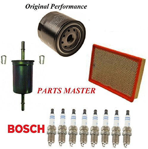 8USAUTO Tune Up Kit Air Oil Fuel Filters Spark Plug Fit FORD CROWN VICTORIA V8 4.6L 1998-2008