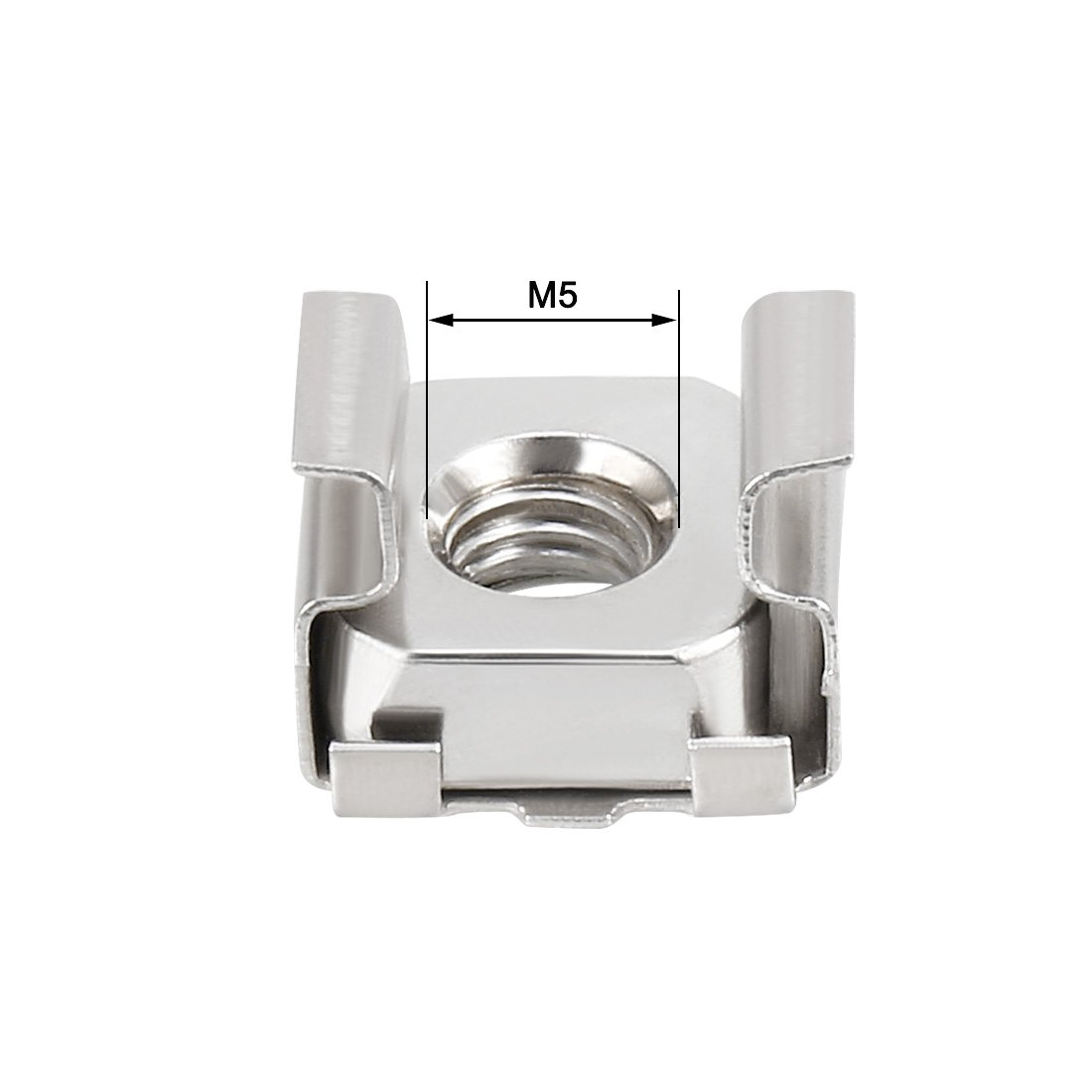 M5 Cage Nut Carbon Steel Zinc Plated Bronze Tone for Server Shelf Cabinet uxcell 55 Pack