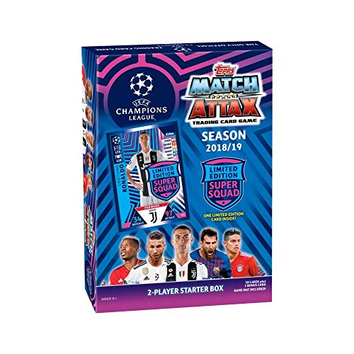 Champions Football Card - Topps Match Attax 2018/19 UEFA Champions League Soccer Trading Card Game Starter Box