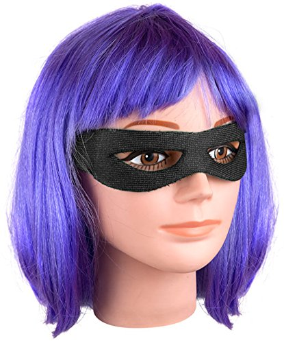 Kick-ass Hit Girl Costume Wig & Eye Patch Kit (Hit Girl Costumes)