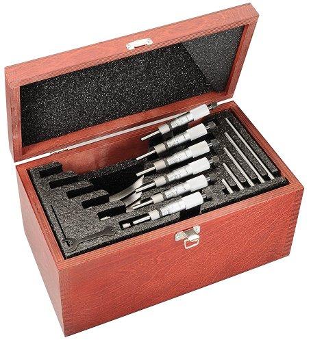Starrett ST226BXRLZ 0-6-Inch Measuring Range Carbide Outside Micrometer Set