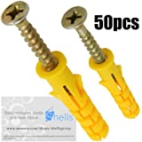 Shells 50Pack Self Drilling Drywall Anchor Kit with Screws