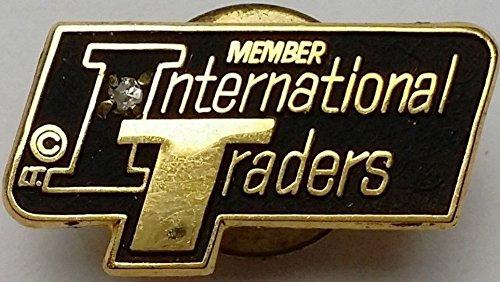 - VINTAGE INTERNATIONAL TRADERS LTD MEMBER LAPEL PIN BACK WITH REAL DIAMOND