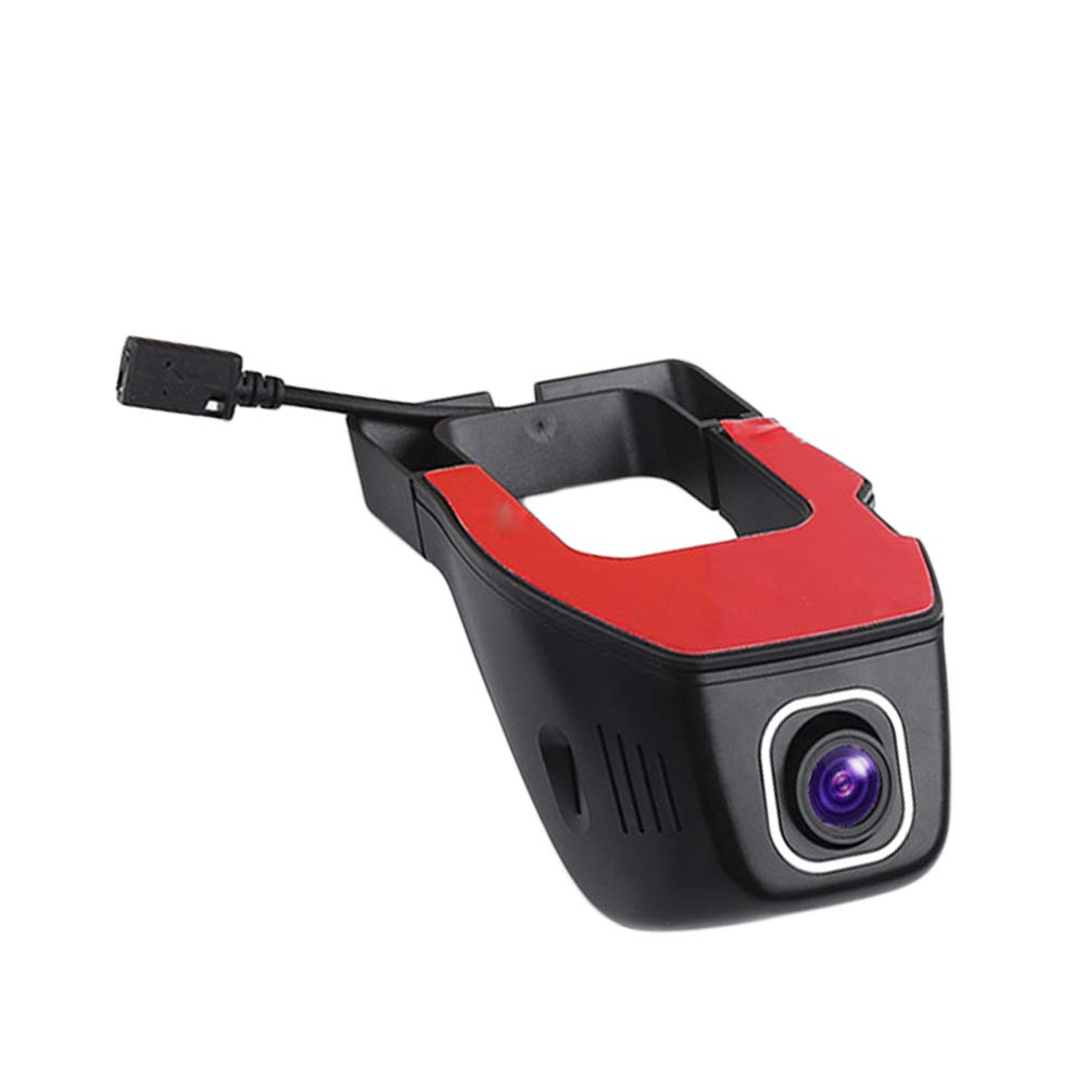 shwhiplash Cam/éra embarqu/ée pour Tableau de Bord de Voiture V24 WiFi Cam/éra DVR HD Vision Nocturne Noir A