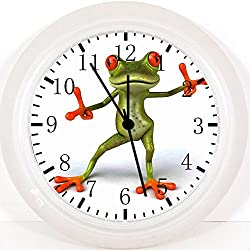 """Cute Funny Frog Wall Clock E209 Nice For Gift or Home Office Wall Decor 10"""""""