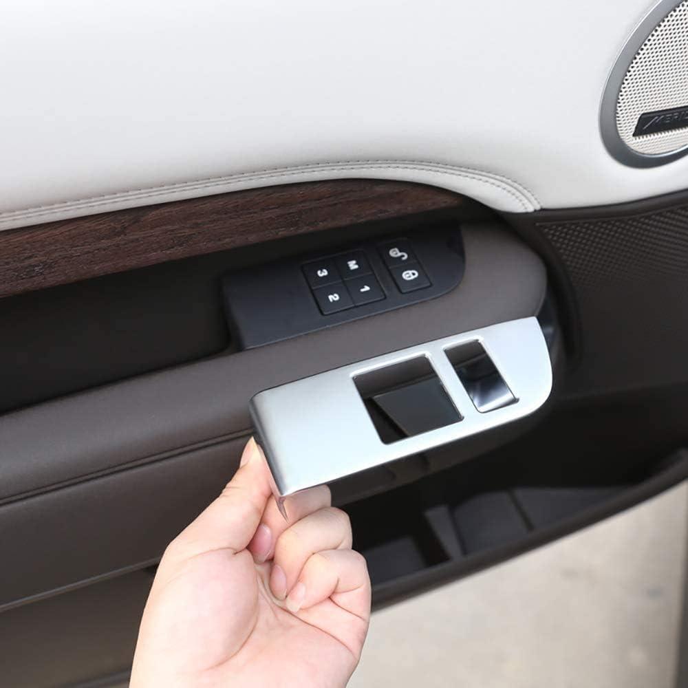 ACYCY 4 Piezas Abs Cromado Mate Paneles Interiores del Interruptor A Prueba De Ni/ños para Land Rover Discovery 5 Lr5 2017 Estilo De Autom/óvil