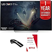 LG 55 C7P OLED 4K HDR Smart TV 2017 Model (OLED55C7P) Includes 1 Year of Netflix + 1 Year Extended Warranty