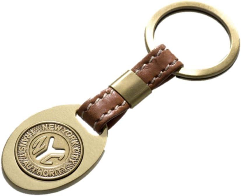 Tokens & Icons NY Subway Token Leather Key Ring
