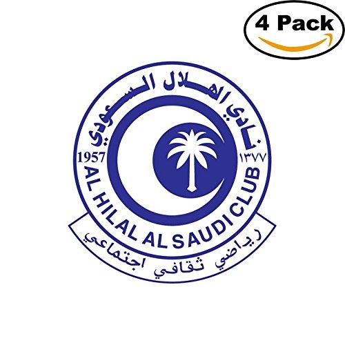 fan products of Al Hilal Saudi Arabia Soccer Football Club FC 4 Stickers Car Bumper Window Sticker Decal 4X4