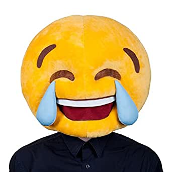 Adults Plush Cry Laughing Emoticon Emoji Smiley Face Funny