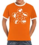 Touchlines Big Bang Theory Men's Ringer Contrast T-Shirt Stone Scissors Paper Lizard Spock