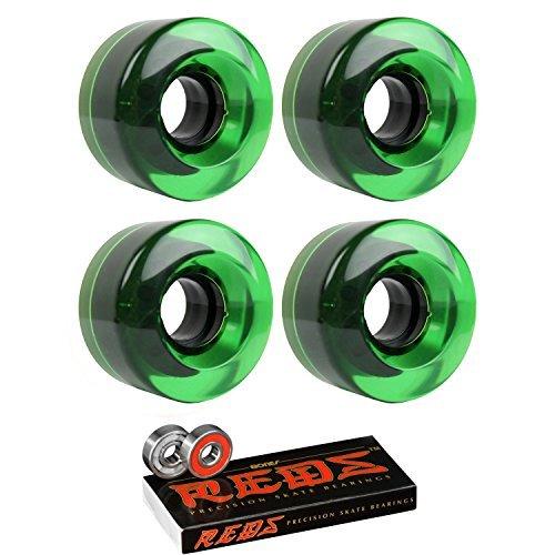 スケートボードクルーザーWheels 54 mm x 32 mm 83 a 368 CグリーンクリアBones Redsベアリング [並行輸入品]   B078WTZBWP