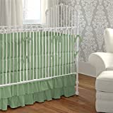 Nursery Baby Cradle Bedding Set 100% Egyptian Cotton 500 TC 3-Piece Set Fitted Sheet, Comforter, Bumper (Moss,Cradle)