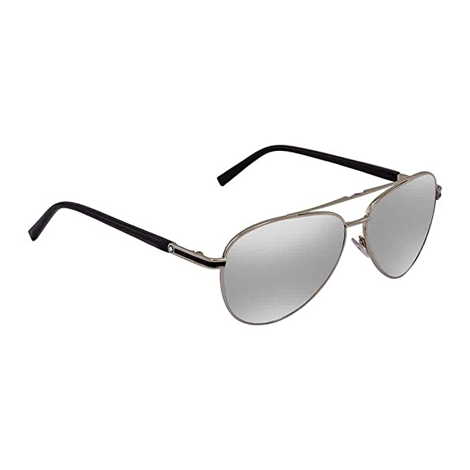Mont Blanc Gafas de sol Unisex Adulto, Plateado (Silver ...