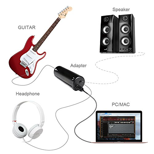 mostop guitar interface adapter for iphone ipad ipod ios devices connect electric guitar and. Black Bedroom Furniture Sets. Home Design Ideas