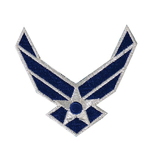 Hot Leathers, US AIR FORCE LOGO, Exceptional Quality Iron-On / Saw-On, Heat Sealed Backing Rayon PATCH - 3