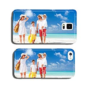 Family on a tropical beach vacation cell phone cover case Samsung S6
