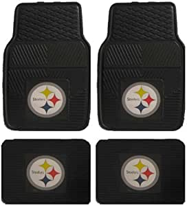 Amazon Com Nfl Pittsburgh Steelers Car Floor Mats Heavy
