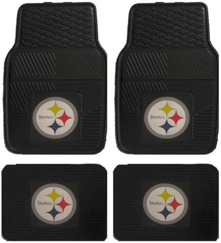 Amazon.com: NFL Pittsburgh Steelers Car Floor Mats Heavy Duty 4 ...