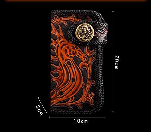 China Palaeowind Pflanzlich Gegerbtes Leder Leder Gravur Portemonnaie Männlich Weiblich 20 * 10 * 3cm