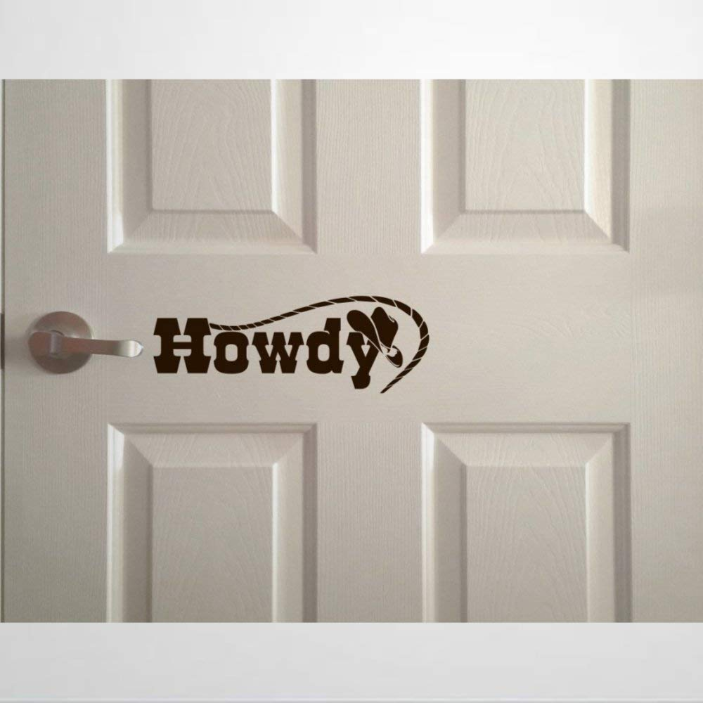 Decal Vinyl Wall Stickers & Murals   Front Door Howdy Quote Greeting for Hello Cute Southern Country Hey Yall Welcome Art Wall Decal   Removable Home Decor Murals Poster for Bedroom, Living Room,Nurs