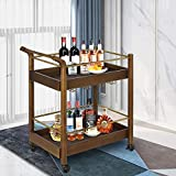 LAZZO Bar Serving Cart, Home Kitchen Wine Cart with