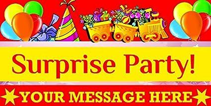 amazon com birthday vinyl banner custom birthday banner party