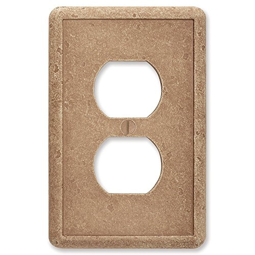 Single Duplex Noche Tumbled Textured Cast Stone Decorative Wall Plate Switch Plate Outlet Cover