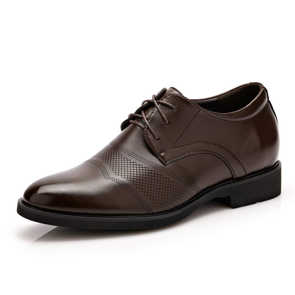 WENIN Men's Leather Lined Dress Shoes Leather Lined Dress Slip-On Shoes Driving Shoes Casual Comfortable Shoes Men's Uniform Shoes Travel Shoe (Color : Brown, Size : 8.5 M US) by WENIN