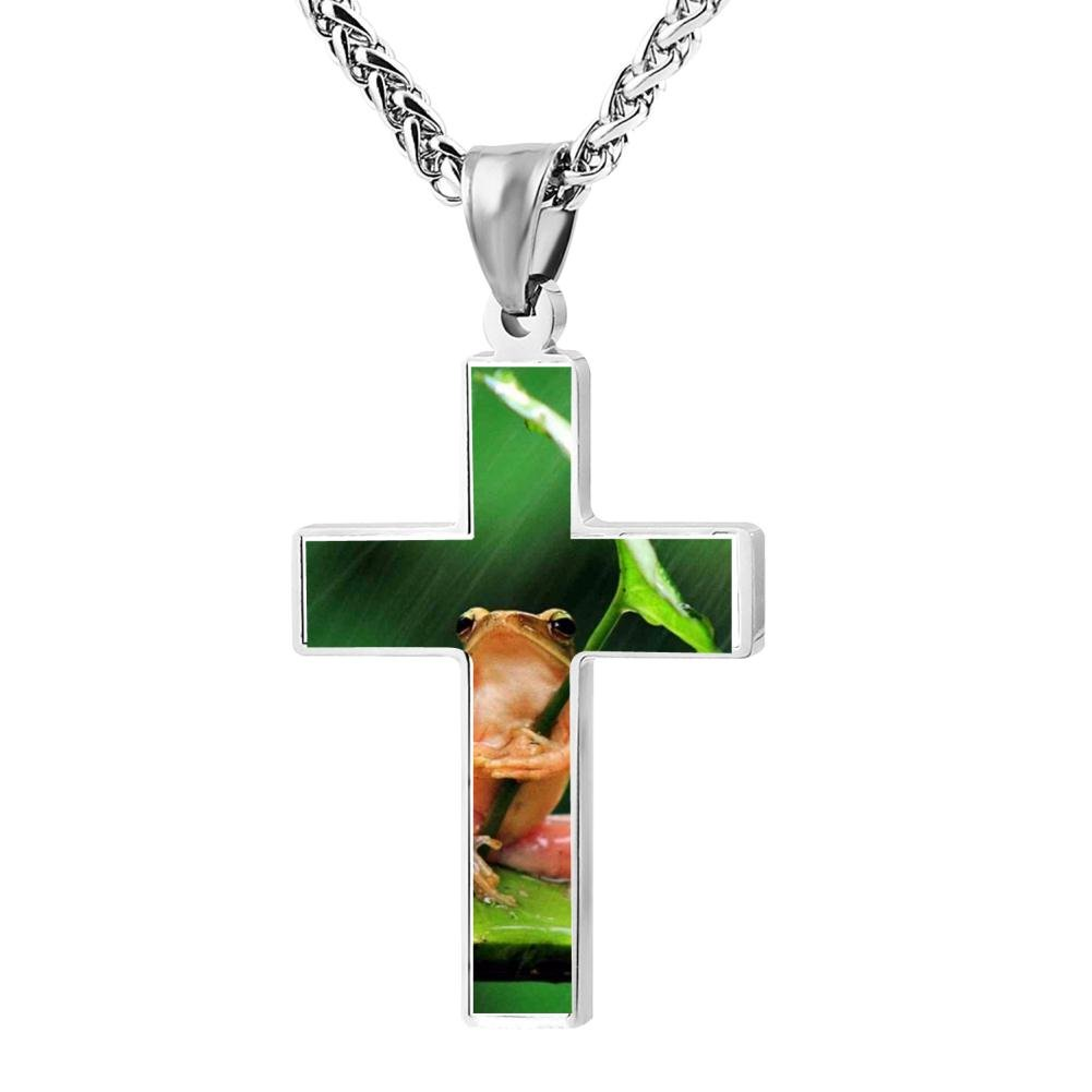 Cool Patriotic Cross Animal Frog Religious Lord's Zinc Jewelry Pendant Necklace