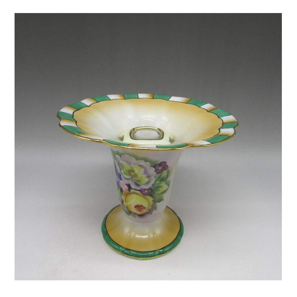 オールドノリタケ : アールデコ黄薔薇文花瓶 【 1921年頃 - 1941年頃 】【 ヴィンテージ 】 B07SJNTS2L