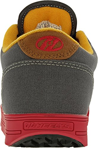 HeelysLaunch - Launch Niños, unisex Charcoal/Neonred/Orange