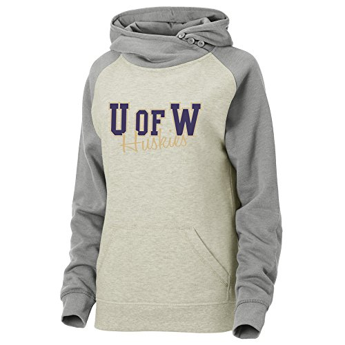- Ouray Sportswear NCAA Washington Huskies Womens Asym Redux Hood, Large, Oatmeal Heather/Premium Heather