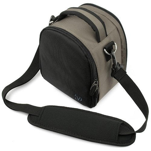 Stylish Elegant Laurel Steel Grey Handbag Camera Bag with Adjustable Shoulder Strap for Canon EOS DSLR Camera Model 600D (EOS Rebel T3i / EOS Kiss X5) EOS 1100D (EOS Rebel T3 / EOS Kiss X50) Canon EOS 1000D (EOS Rebel XS / Kiss F Digital)