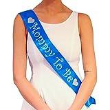 Fascia blu futura mamma Mommy To Be – Decorazioni per Baby Shower maschio