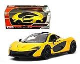 mclaren model car - Motormax Collection Mclaren P1 1/24 Diecast Model Car Yellow