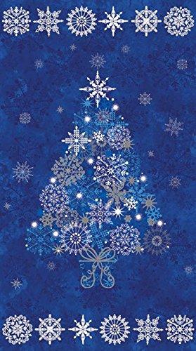 235quot X 44quot Panel Stonehenge Starry Night 2 Christmas Tree Snowflakes Holiday Festive Blue