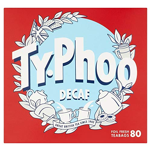 - Typhoo 80 Decaf Tea Teabags (Pack of 6, Total 480 Teabags)