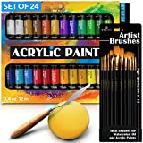 Complete Acrylic Paint Set – 24х Rich Pigment