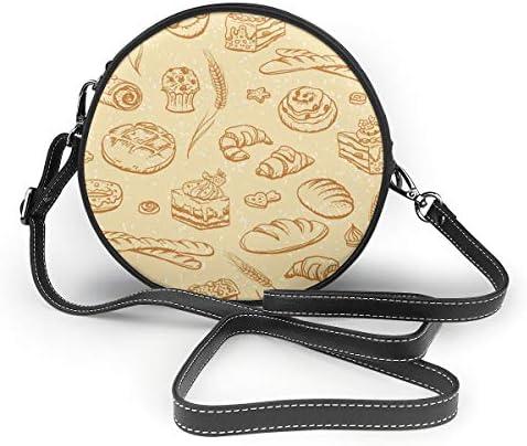 レディース 斜めがけバッグ ザーショルダーバッグ 肩掛けバッグ パン トートバッグ 丸形 ミニバッグ 財布 デート 面白い 旅行用