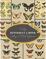 Vintage Butterfly & Moth Collage Cut Out Ephemera: For Junk Journals, Aesthetic Art Journaling, Scrapbooking, Decoupage, and Mixed Media Projects