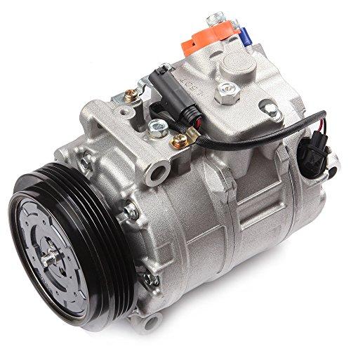 AC Compressor and A/C Cluth ECCPP CO 11250C Automotive Replacement Compressor Assembly for 2003-2010 BMW 750Li 745Li 650i 745i 550i 545i 760Li ()