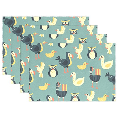 fff047071 hengpai Dodo Placemats Washable Table Place Mat for Kitchen Dining  Room