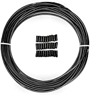 Farbetter Lined Bicycle Brake Cable Housing, 5mm x 50ft, Including 30 PCS Cable End Caps Kit, The Most Trusted